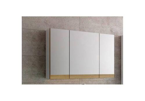 Шкаф зеркальный Маджика 80,  белый с дубом