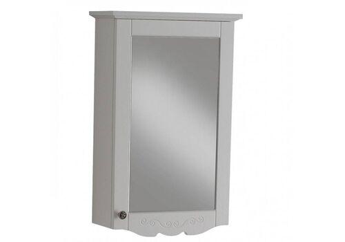 Шкаф зеркальный Гент 50, белый матовый