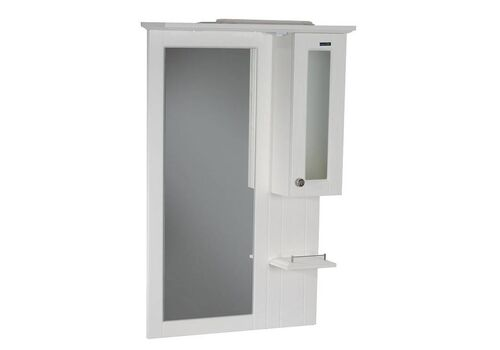 Шкаф зеркальный Гент 70, белый матовый