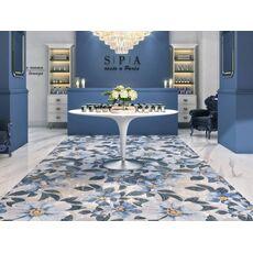 Kerama Marazzi к  SG591002R  Розелла синий декорированный лаппатированный 119,5*238,5
