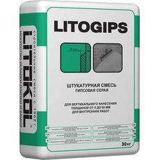 кл LITOGIPS - штукатурка серая 30 кг
