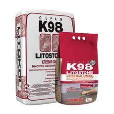Litostone K98 серая-клеевая смесь 25 кг
