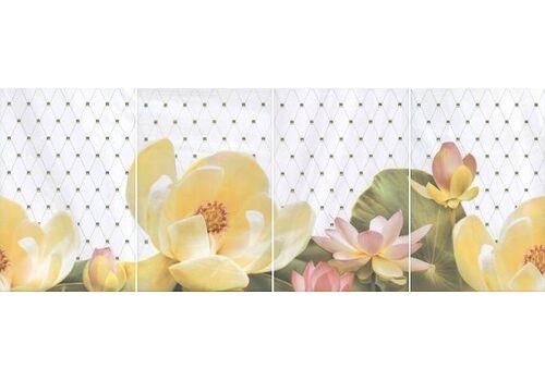 Kerama Marazzi панно  HGD/A56/4x/8259 Летний сад светлый, панно из 4 частей 80*30